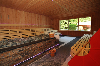 Aufguss-Sauna in der Roetgen-Therme